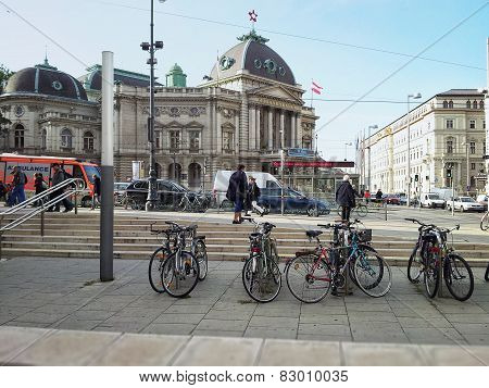 Bicycle Parking In Museumsquartier, Vienna