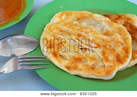 Indian Traditional Roti Prata Cuisine