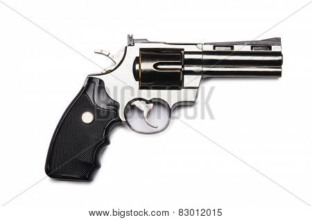 Handgun isolated on the white background