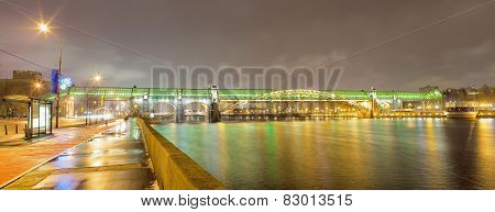 Pushkinsky Bridge In Moscow, Russia