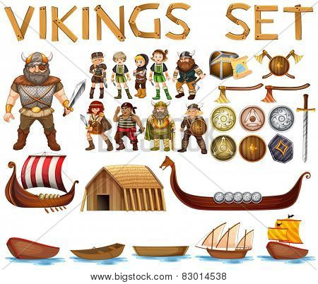 Illustration of a set of vikings