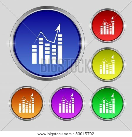 Text File Icon. Add Document With Chart Sign. Accounting Symbol.
