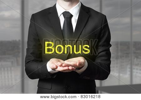 Businessman In Suit Begging Gesture Bonus