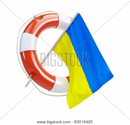 Life Buoy Help Flags Of Ukraine