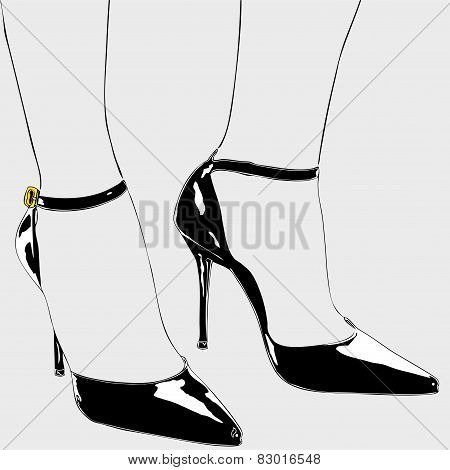 The Shoes Of An Elegant Woman