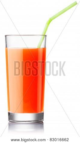 Fresh Grapefruit Juice With A Straw