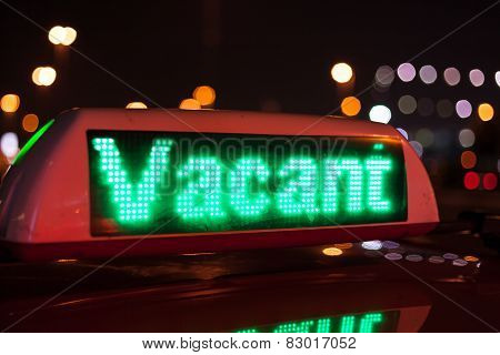 Vacant Taxi Sign