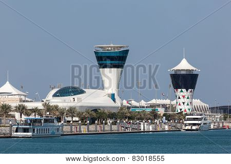Yas Marina Tower in Abu Dhabi