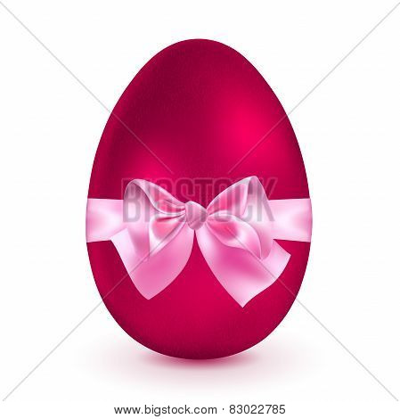 Red Egg With Pink Bow