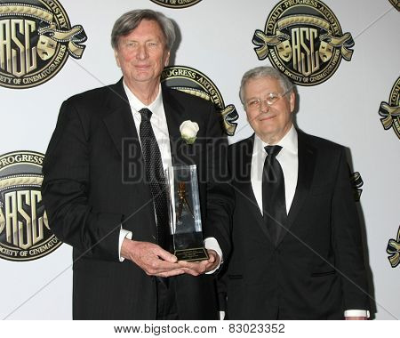 LOS ANGELES - FEB 15:  John Bailey, Lawrence Kasden at the 2015 American Society of Cinematographers Awards at a Century Plaza Hotel on February 15, 2015 in Century City, CA