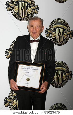 LOS ANGELES - FEB 15:  Otto Nemenz at the 2015 American Society of Cinematographers Awards at a Century Plaza Hotel on February 15, 2015 in Century City, CA