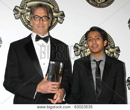 LOS ANGELES - FEB 15:  John Lindley, Tony Revolori at the 2015 American Society of Cinematographers Awards at a Century Plaza Hotel on February 15, 2015 in Century City, CA