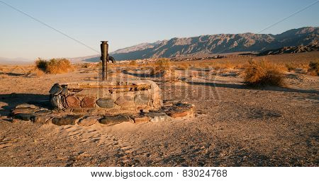 Stovepipe Wells Ancient Dry Well Death Valley California