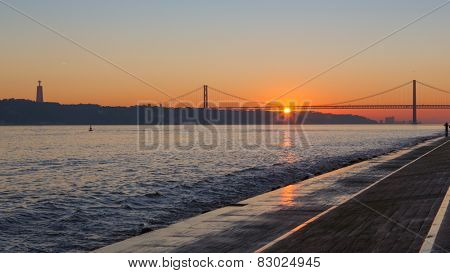 Lisboa, Portugal, Europe - Pier view to