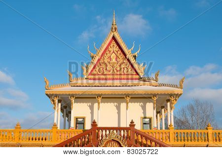 Buddhist Temple Exterior And Spire
