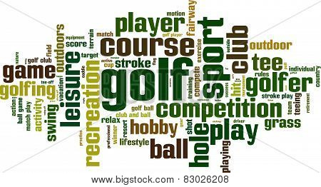 Golf Word Cloud