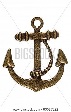 Anchor Of Ship's, Decorative Element, Isolated On White Background