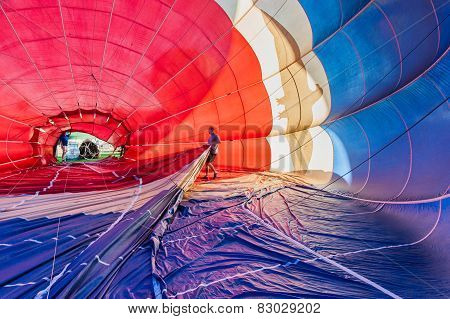 Man Inside Of A Hot Air Balloon