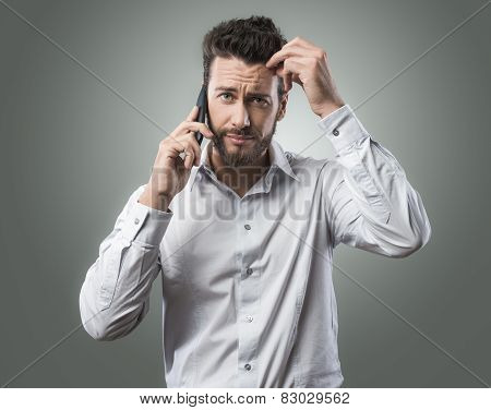 Disappointed Man On The Phone