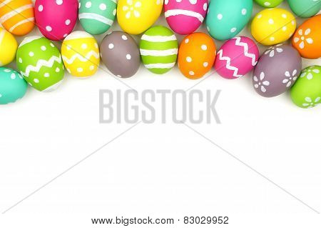 Easter Egg Top Border on White