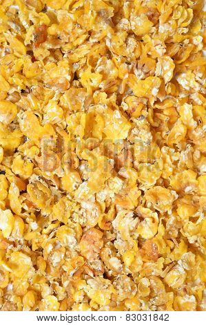 Corn Flakes Background. For Horses
