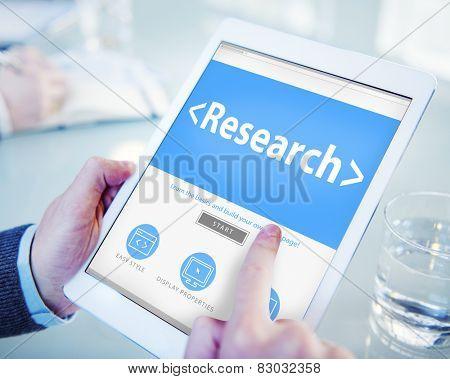Digital Online Website Research Concept