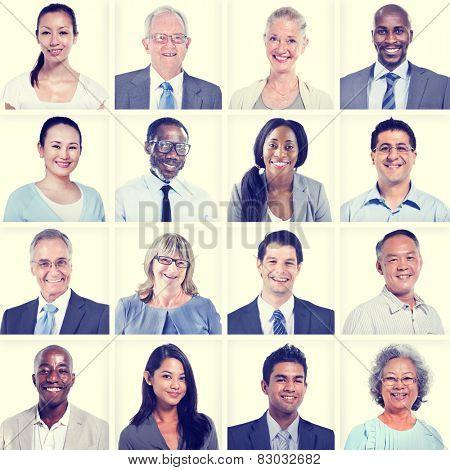 Portrait of Group Diversity People Community Happiness Concept