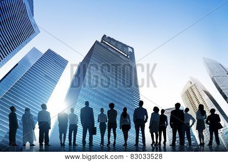 Business People Cityscape Architecture Building Business Metropolis Concept