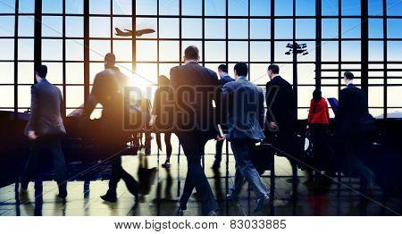 Airport Commuter Business Travel Tour Vacation Concept