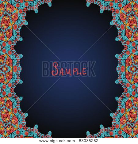 Template for menu, greeting card, invitation or cover arab style