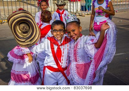 Performers with colorful and elaborate costumes participate in Colombia's most important folklore ce