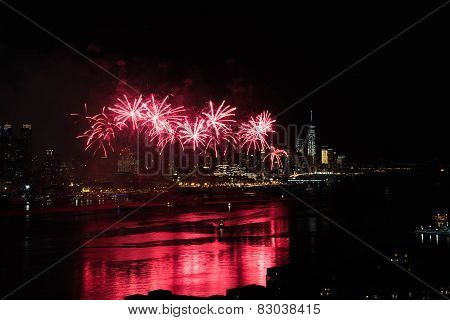 Fireworks Over Hudson River