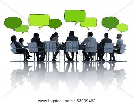 Business People Talking Meeting Board Room Concept