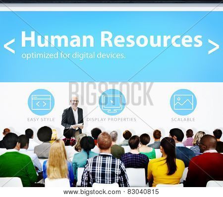 Human Resources Employment Job Recruitment Seminar Conference Concept
