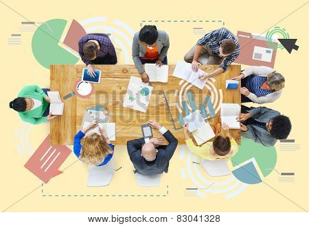 Meeting Information Statistics Analysis Report Concept