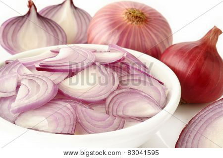 Sliced Shallot Onion