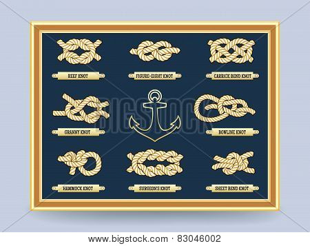 Nautical rope knots