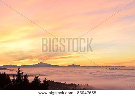 Vancouver Foggy Sunrise