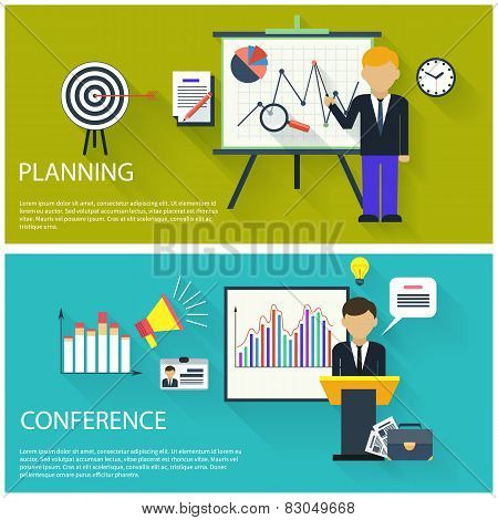 Concept for business conference and presentation