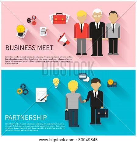 Concept of business meeting, teamwork, partnership