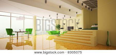 Apartment Interior Panorama 3D