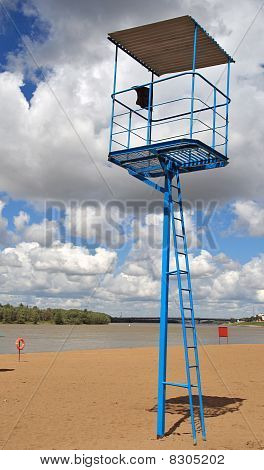 Lifeguard Tower At The City Beach
