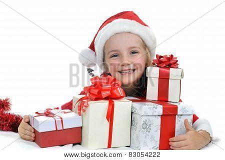 Girl In Santa Cap