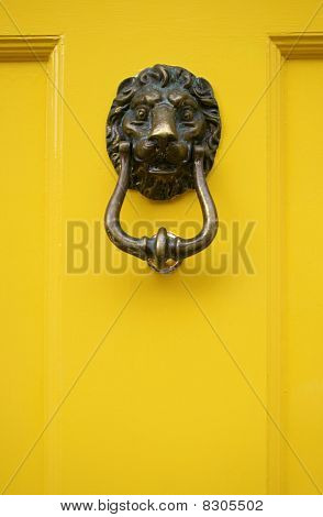Yellow Door Handle