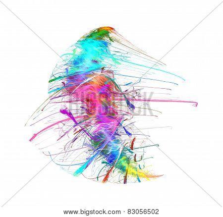 Iridescent Colored Splash Texture