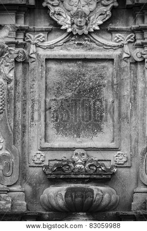Aged Gravestone Frame With A Gothic Grunge Look