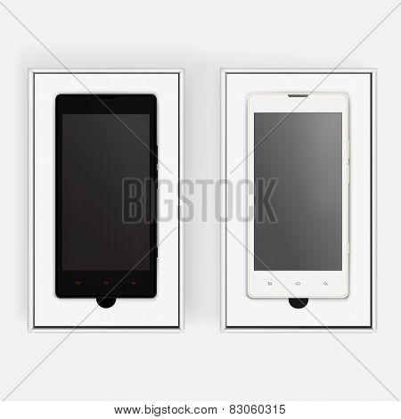 Cell in realistic box for present. Isolated vector