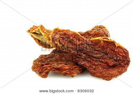 Bunch of dried tomatoes