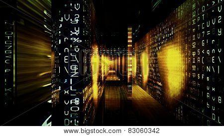 Futuristic Digital Tech Display.