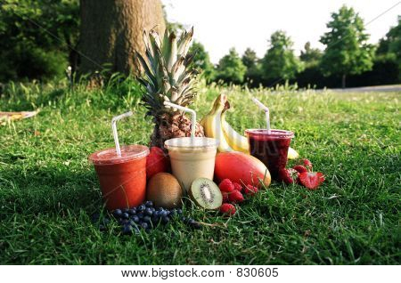 Smoothie Trio with Fruit